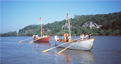 Pirgoues on the Missouri River