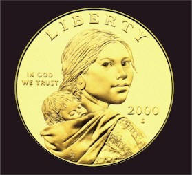 President Clinton presented the title of Honorary Sergeant, Regular Army to Sacagawea on Jaunuary 17, 2001.