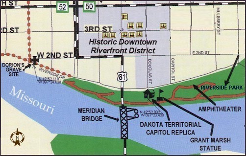 Riverside Park in Yankton South Dakota on the Lewis and Clark Trail